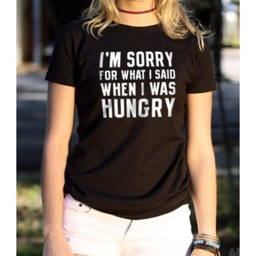 """T-shirt koszulka z nadrukiem """"I'm sorry for.."""""""