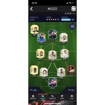 Skład FIFA 21 xbox one NEYMAR 99/ MESSI 98/ DINHO
