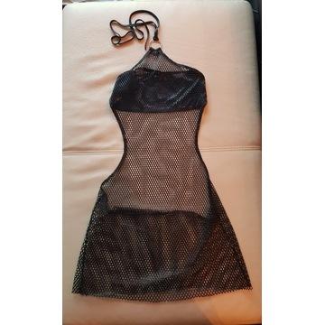 Seksowna mini sukienka z siateczki S