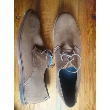 Buty pantofle zamszowe nowe 27.5 cm wkładka nr. 42