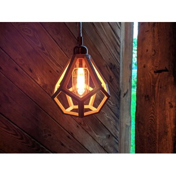 lampa wisząca retro loft design Wood