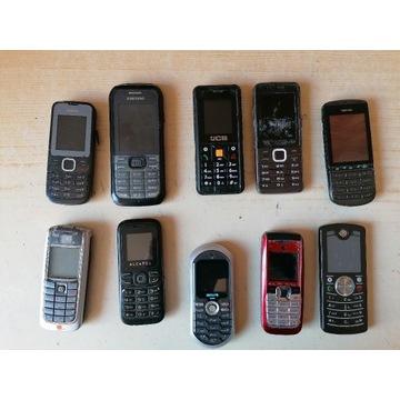 11 uszkodzonych telefonów na części