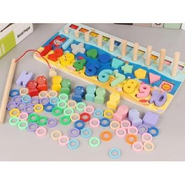 FISH&COUNT matematyka Montessori kolory pastelowe