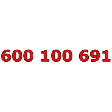 600 100 691 T-MOBILE ŁATWY ZŁOTY NUMER STARTER
