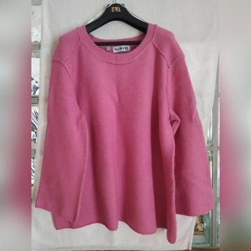 Sweter różowy ciepły