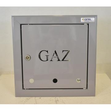Drzwiczki wnękowe stalowe GAZ popiel 250x250 RAMKA