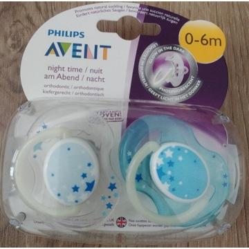 Avent Night time Smoczek Ortodontyczny 0-6m+