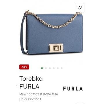 Torebka Furla Mimi kolor Piombo f nowa niebieska