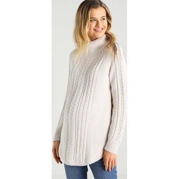 GAP Maternity sweter ciążowy golf biały M 38