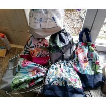 Worko-plecak z rączką i sznurkiem