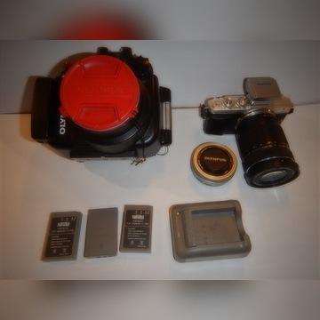 Olympus PL-7 zestaw do fotografii podwodnej