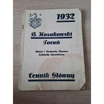 B. Hozakowski Toruń cennik letni 1935