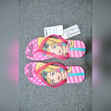 Nowe klapki japonki Barbie r. 33 - 34