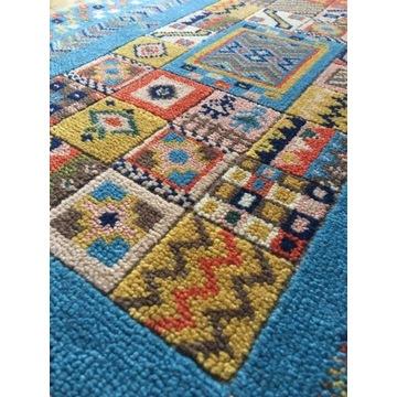 Wełniany tkany ręcznie dywan 62x105 cm 10mm