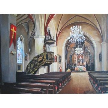 """""""Lębork,wnętrze kościoła św.Jakuba""""."""