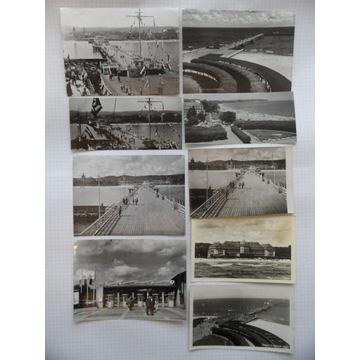 SOPOT lata 60/70-te * 9 pocztówek
