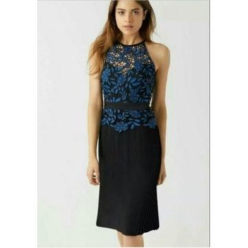 Lipsy nowa sukienka plisowana koronka rozmiar 44