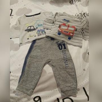 Zestaw-spodnie+2 koszulki CoolClub George r62 3-6m