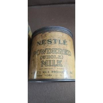 Puszka po mleku w proszku Nestle