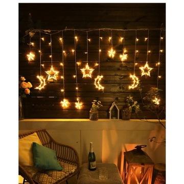 Gwiazdy ksieżyc lampki LED nocne 138 LED DOM OGRÓD