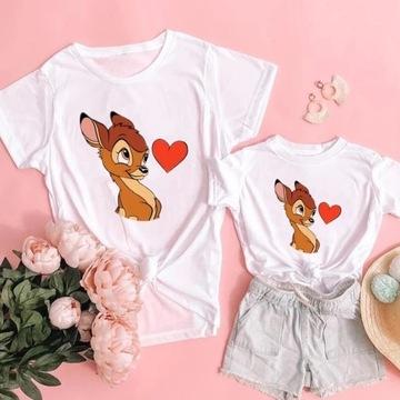 Tshirt mama dziecko komplet Minnie Stich bambi