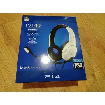 PDP PS5 PS4 Słuchawki przewodowe LVL40 Białe SONY