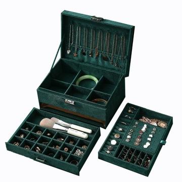 Pudełko Organizer na Biżuterię kuferek DUŻY