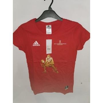 Koszulka Adidasa czerwona roz S.