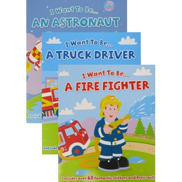 3 książki angielskie Astronaut Fire Fighter Driver