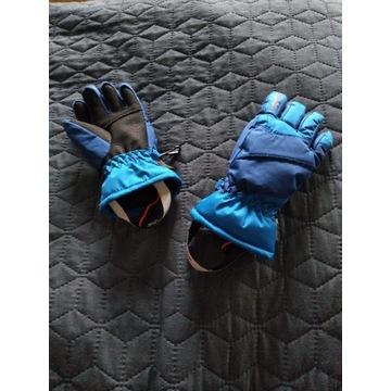 Cieplutkie rękawiczki na narty z 5 palcami na zimę