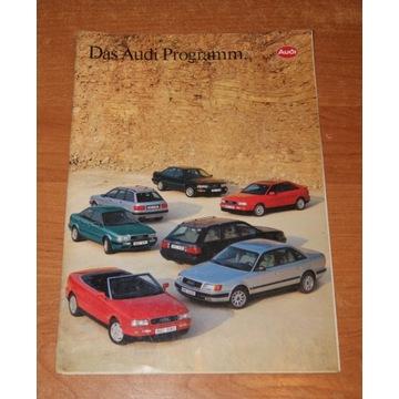 Prospekt Audi 80, 100, V8 rok 1993