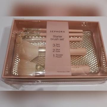 Pędzle Sephora Starter Brush Set z kosmetyczką