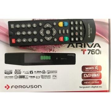 Tuner DVB-T2 Ferguson Ariva T760i Pendrive 32Gb