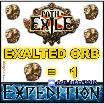 1 EXALTED ORB PATH OF EXILE EXPEDITION POE [PC]