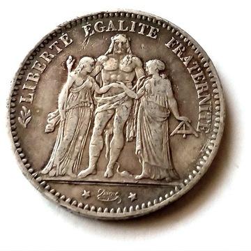Francja 5 franków, 1874 r srebro