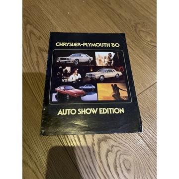 CHRYSLER-PLYMOUTH 80 AUTO SHOW EDITION prospekt
