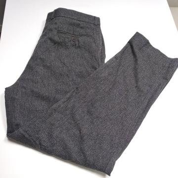 Eleganckie spodnie z wiskozy Yves Saint Laurent XL