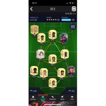 Fifa 21 Ultimate Team skład origin
