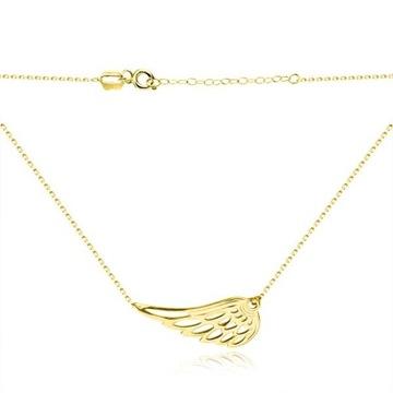 Złoty naszyjnik ze skrzydłem próba 585 - 1,4g
