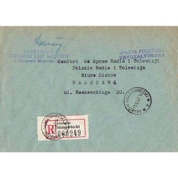 Maków Mazowiecki - Koperty listów polec. 1960-80