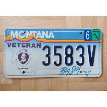 Oryginalna tablica Montana, Veteran Purple Heart