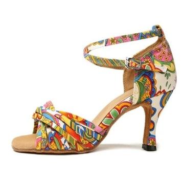 Kolorowe buty do tańca towarzyskiego, rozm. 38