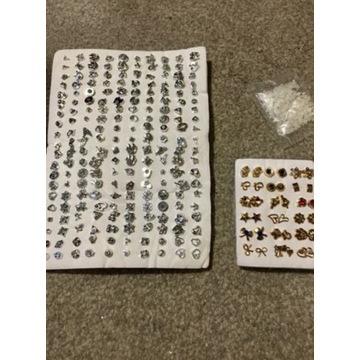 Mega zestaw kolczyków 136 Par losowych