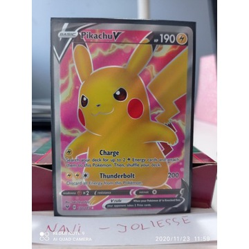 Pikachu V Full Art 170/185 M/NM Vivid Voltage