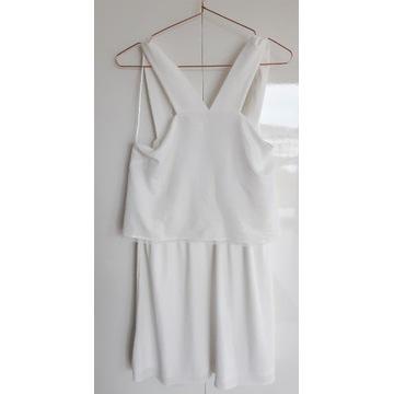 Zara Woman_biała sukienka warstwy_M