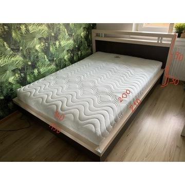 Łóżko, materac Hilding 140x200, stelaż pod materac
