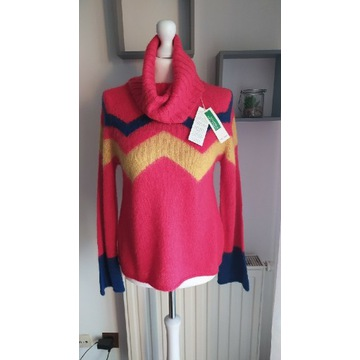 Sweter z golfem United Colors of Benetton rozm. XS