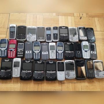 sprzedam zestaw 32 telefonów