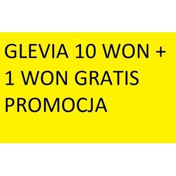 Glevia 10 won +1 won gratis promocja