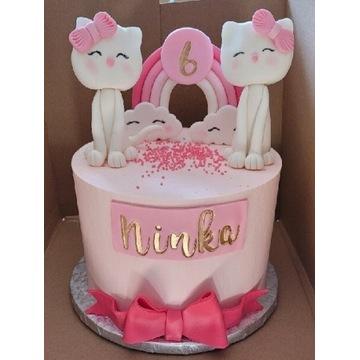 Figurka cukrowa na tort Kotek